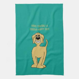 Doodle Smile blond Kitchen Towel