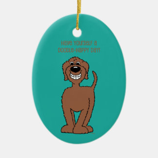 Doodle Smile brown Christmas Ornament