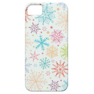 Doodle snowflakes pattern iPhone 5 cover