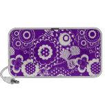 Doodle Speaker - Purple & White Funky Retro Floral