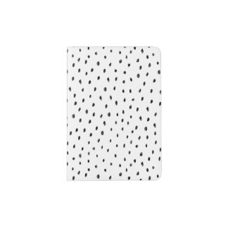 Doodle Spot Black and White Passport Holder