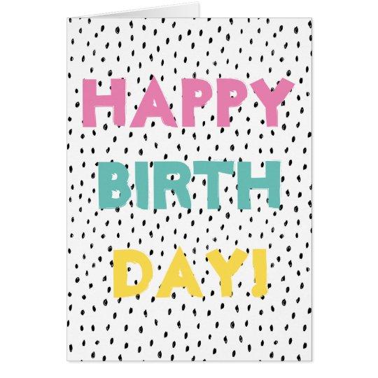 Doodle Spot Happy Birthday Card