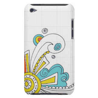 doodle swirls iPod Case-Mate case