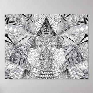 Doodle Symmetry Poster