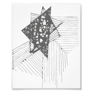Doodle Triangle Cutout Photo Print