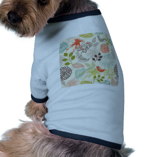 doodle vector birds anf flowers dog clothing