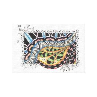 Doodle Vine Canvas Print