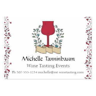 Doodle wine glass wine tasting sommelier pack of chubby business cards