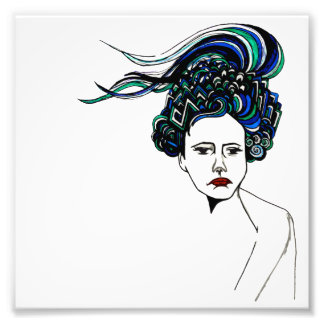 Doodle Woman Photographic Print