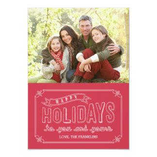 Doodled Banner Holiday Photo Cards 13 Cm X 18 Cm Invitation Card