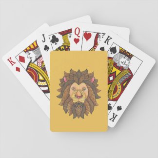 Doodled Lion playing Cards