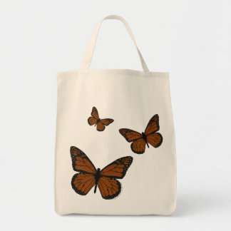 Doodled Monarch Light Tote Bag