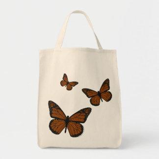 Doodled Monarch Light Tote Bag