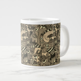 doodled mug