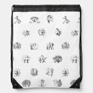 Doodles 1 drawstring bag