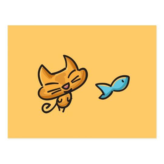 Doodles Cat Postcard