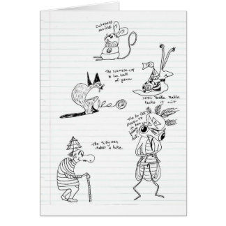 Doodles Greeting Card