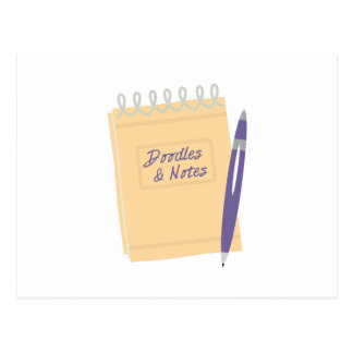 Doodles & Notes Postcard