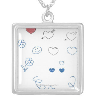 Doodles Silver Plated Necklace
