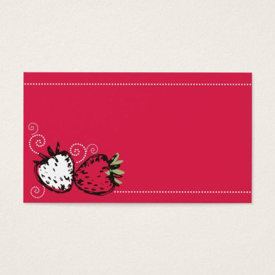 doodles strawberries fruit baking catering busines business card
