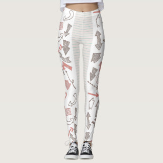 Doodles you shoot with an arrow leggings