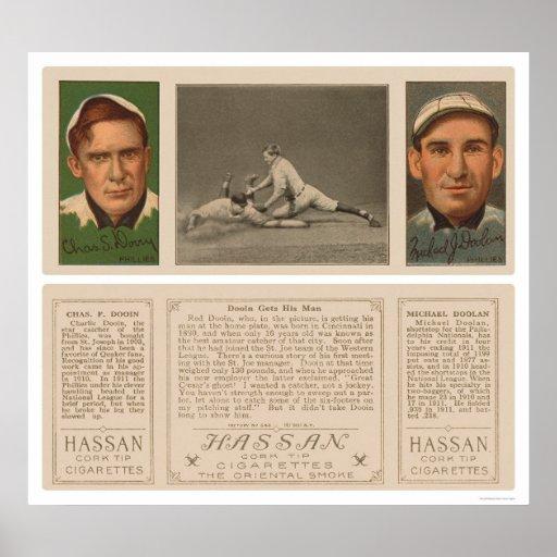 Dooin Gets His Man Baseball 1912 Poster
