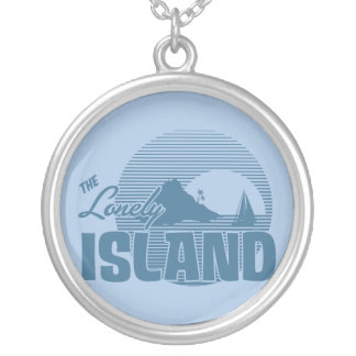 Dookie Island - Blue Round Pendant Necklace