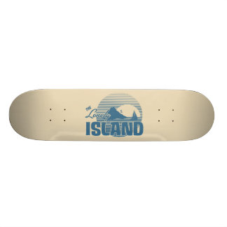 Dookie Island - Blue Skate Board