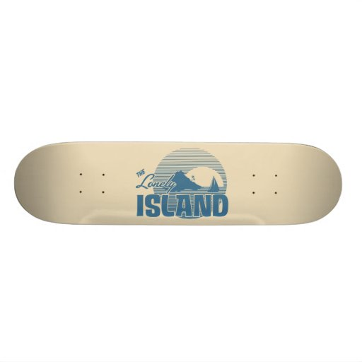 Dookie Island - Blue Custom Skate Board