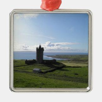 Doolin, Ireland Silver-Colored Square Decoration