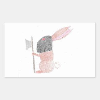 Doom Bunny Rectangular Sticker