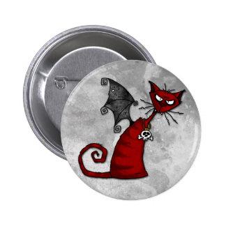 doom kitty 6 cm round badge