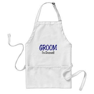 Doomed Groom Adult Apron