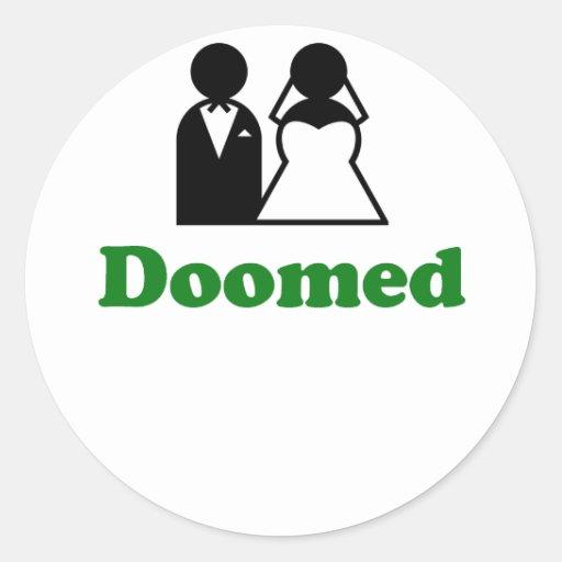 Doomed Round Stickers