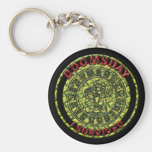 Doomsday - I survived | Maya Prophecy Keychain
