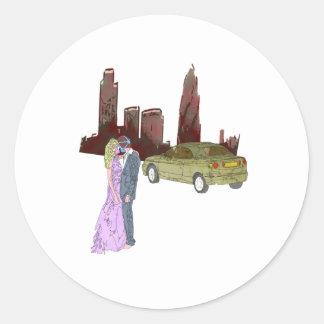 doomsday love classic round sticker