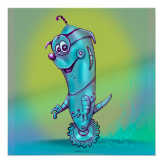 DOOPPEY  ROBOT ALIEN CARTOON Perfect Poster