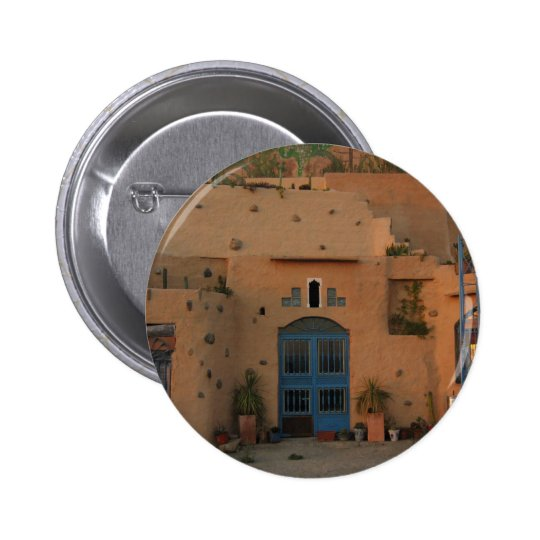 Door Cool Clay House Photo Round Badge