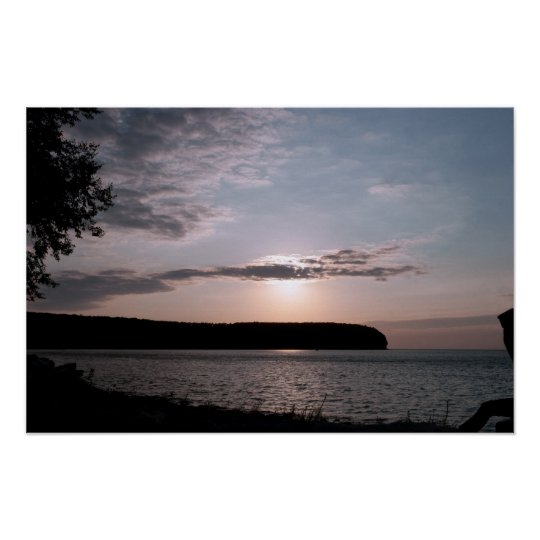 Door County Sunset in Wisconsin Poster
