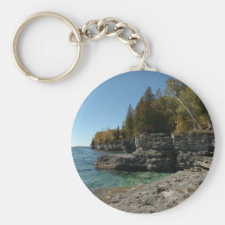 Door County, Wisconsin Basic Round Button Key Ring