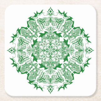 door cups mandala square paper coaster