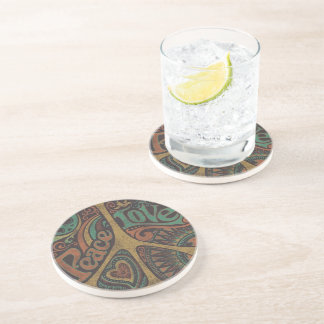 "Door-cups ""Peace love "" Coaster"