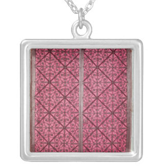 Door from the choir of Rouen Cathedral Silver Plated Necklace