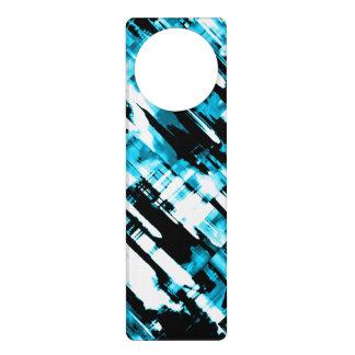 Door Hanger Blue Black abstract digitalart G253