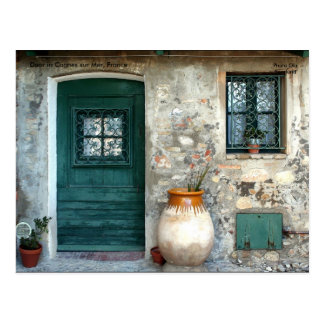 Door in Cagnes sur Mer France Post Card