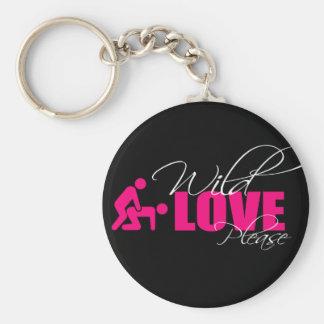 "Door-keys/Key Ring 5 cm - ""wild love please Basic Round Button Key Ring"