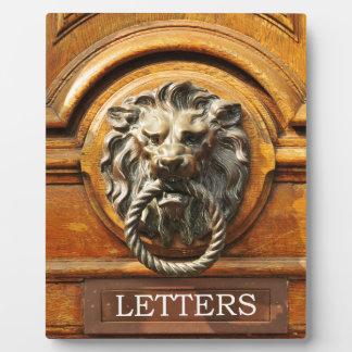 Door knob plaque