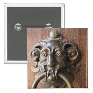 Door knocker at the Neue Residenz 15 Cm Square Badge