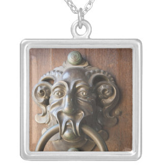 Door knocker at the Neue Residenz Silver Plated Necklace