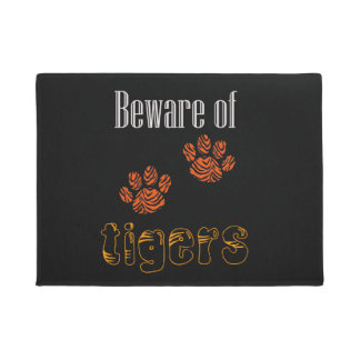 Door mat Beware of Tigers